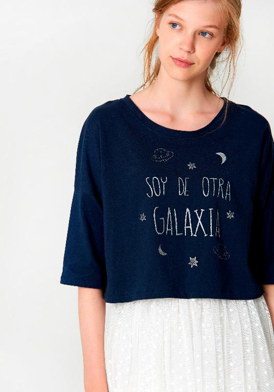 Camiseta soy de otra galaxia azul Maggie Sweet