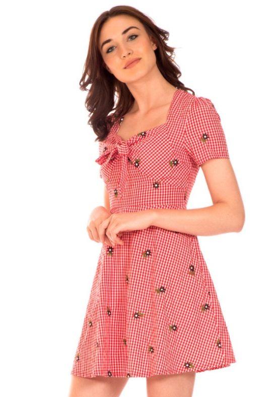 vestido-vichy-rojo-margaritas
