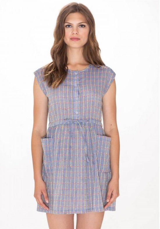vestido-corto-botones-bianca-azul