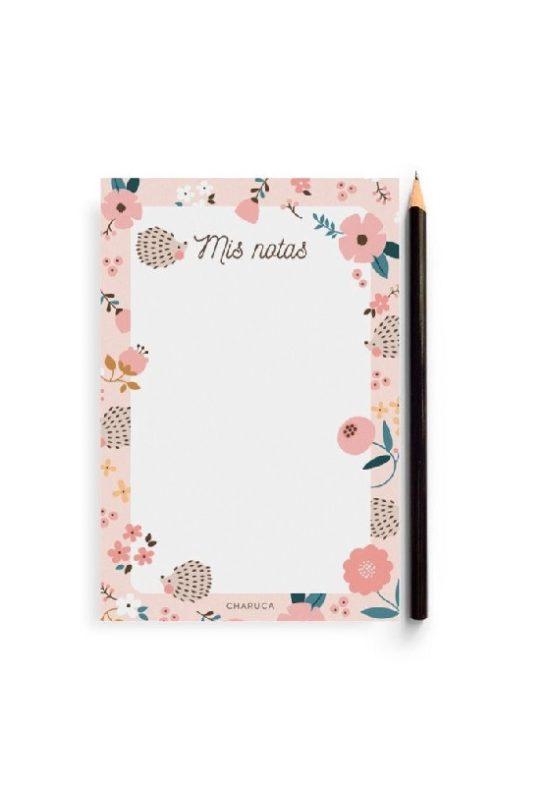 bloc-de-notas-erizo-flores