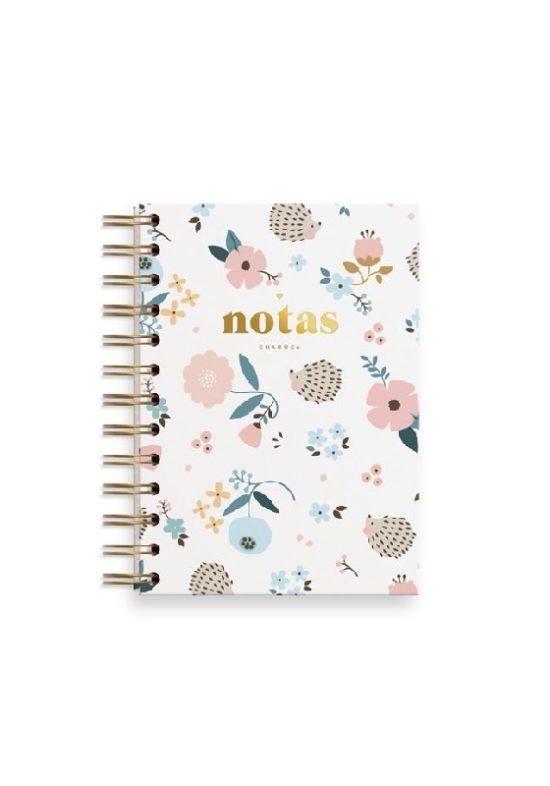 cuaderno-a6-erizo-flores-blanco-rayas-charuca