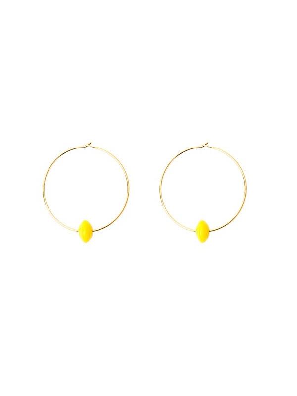 pendientes-manelik-aro-pequeño-amarillo