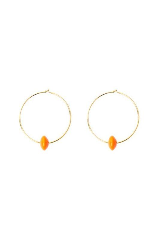 pendientes-manelik-aro-pequeño-naranja