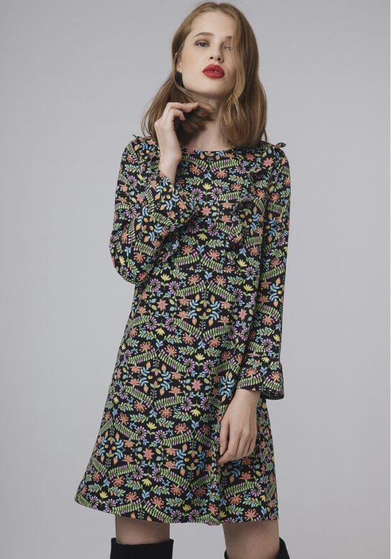 vestido-recto-flores-de-colores