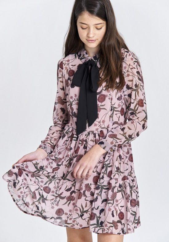 vestido-rosa-flores-lazo-negrovestido-rosa-flores-lazo-negro