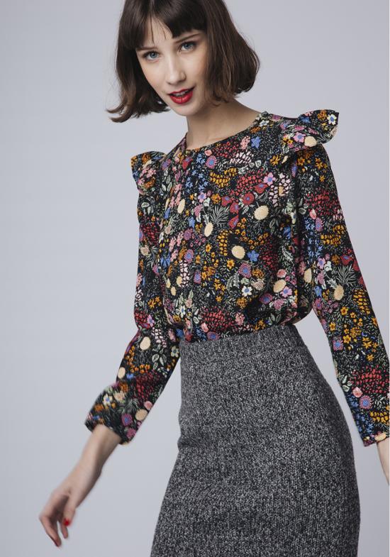 top-negro-estampado-floral-lerez