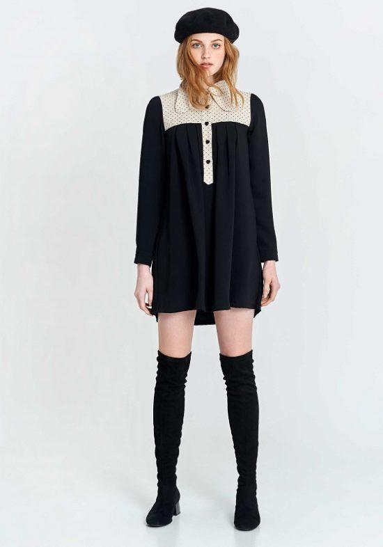 vestido-corto-negro-cuore