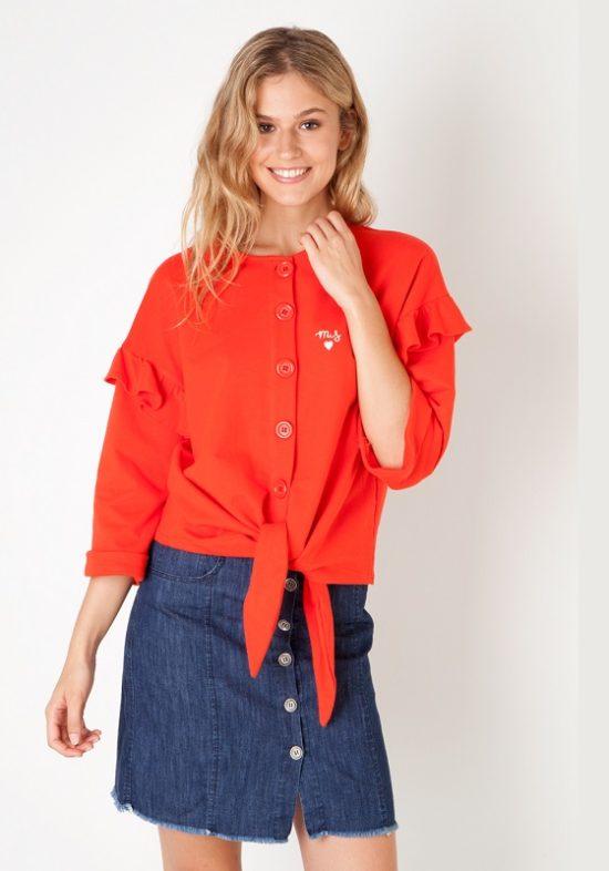 chaqueta-sudadera-botones-roja