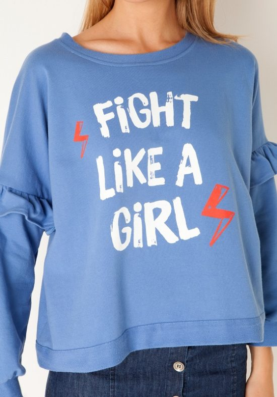 sudadera-azul-fight-like-a-girl