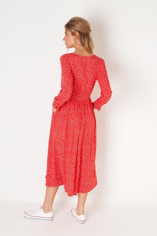 vestido-midi-rojo-botones