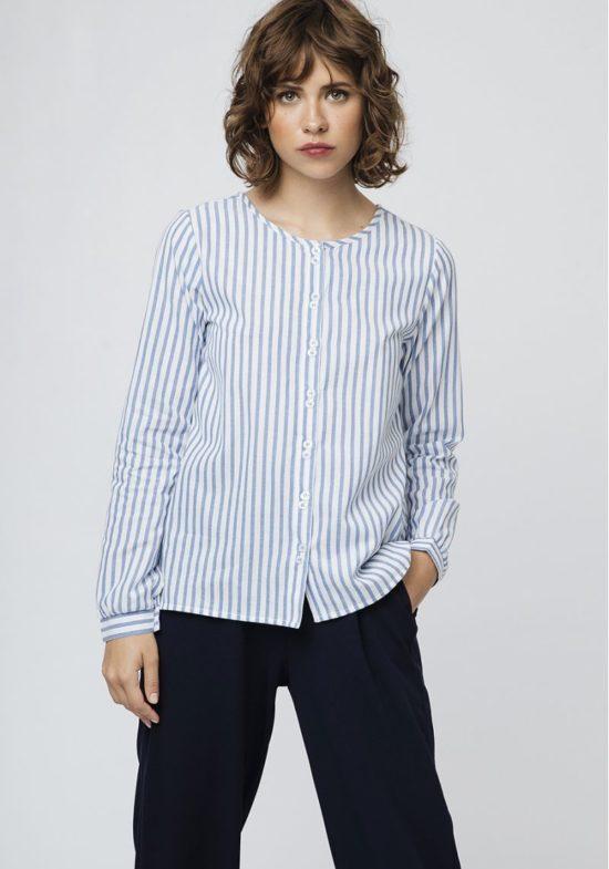 camisa-rayas-azul-cuello-redondo