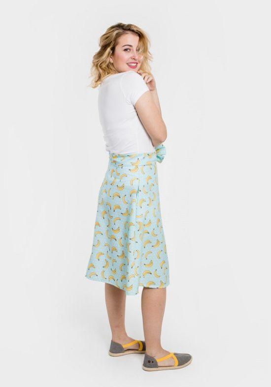 falda-estampado-platanos-lazo