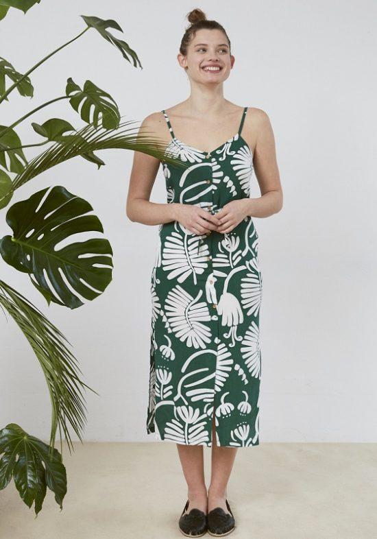 vestido-midi-verde-estampado-flores