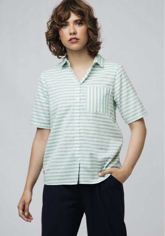 camisa-mangas-cortas-rayas-verdes