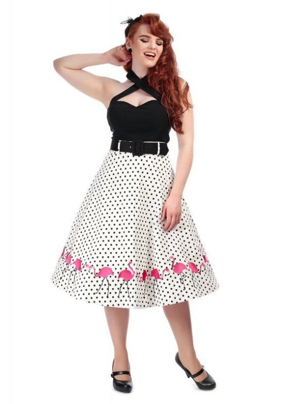 falda-topos-negros-flamencos-bordados