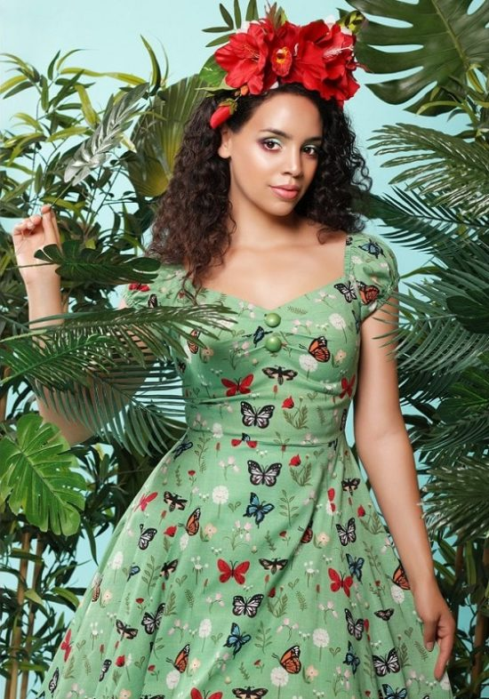 vestido-mariposas-vintage-pin-up-verde-swing