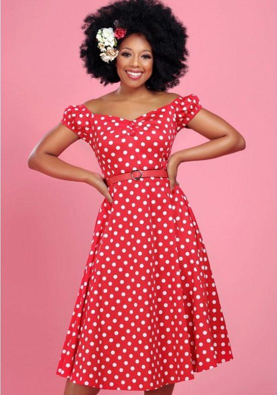 vestido-pin-up-rojo-lunares-blancos-swing