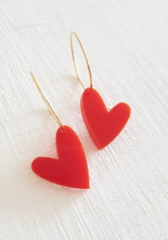 pendientes-metacrilato-corazon-rojo