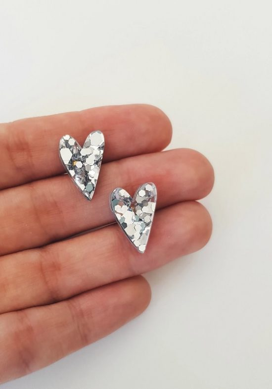 pendientes-corazon-metacrilato-plata