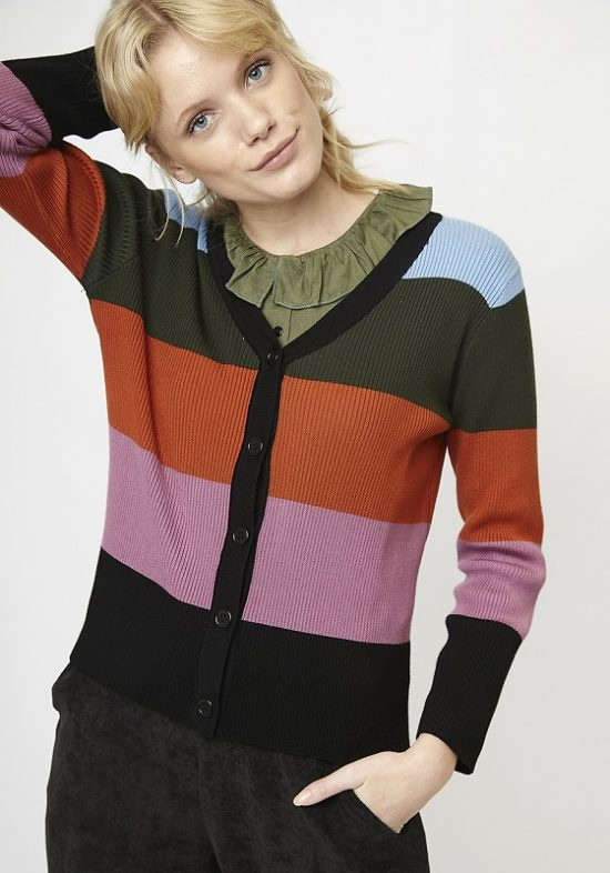 chaqueta-punto-cuello-pico-rayas-multicolor