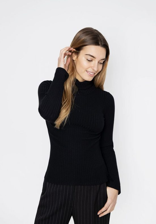 jersey-cuello-alto-canale-negro