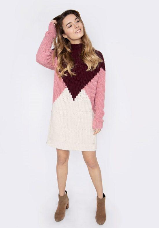 vestido-jersey-punto-grueso-rosa