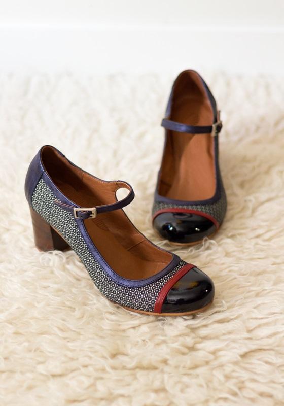 Zapatos Carrie Azul ♥ Zapatos Retro Bonitos ♥ Hola Coqueta