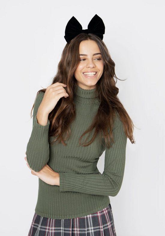 camiseta-canale-verde-kaki-cuello-alto
