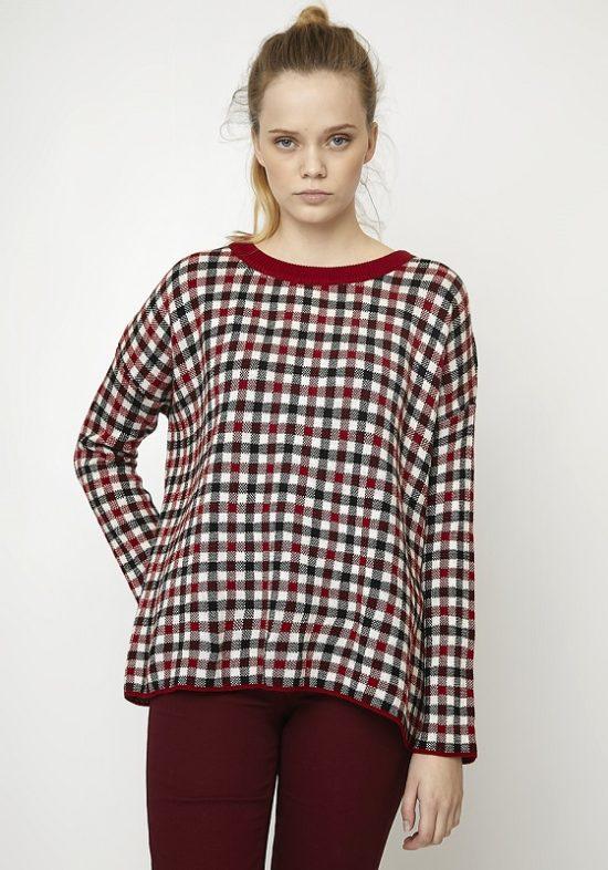 jersey-cuadros-jacquard-rojo-negro