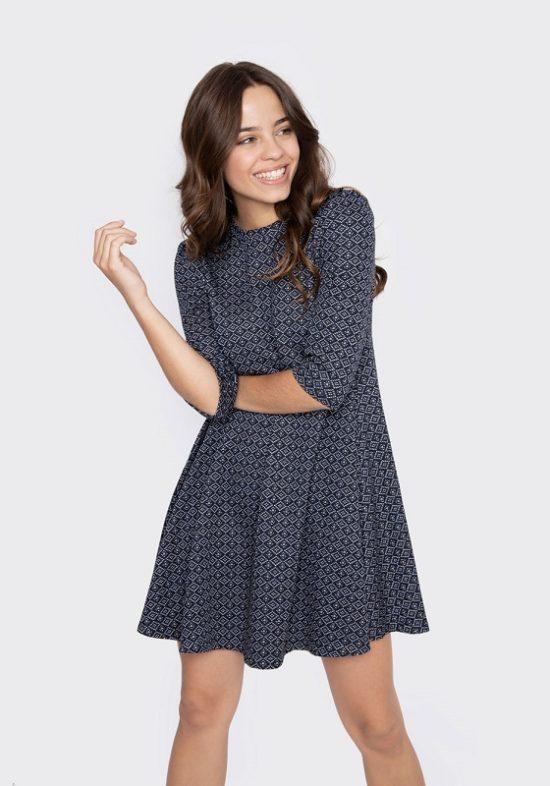 vestido-corto-evase-azul