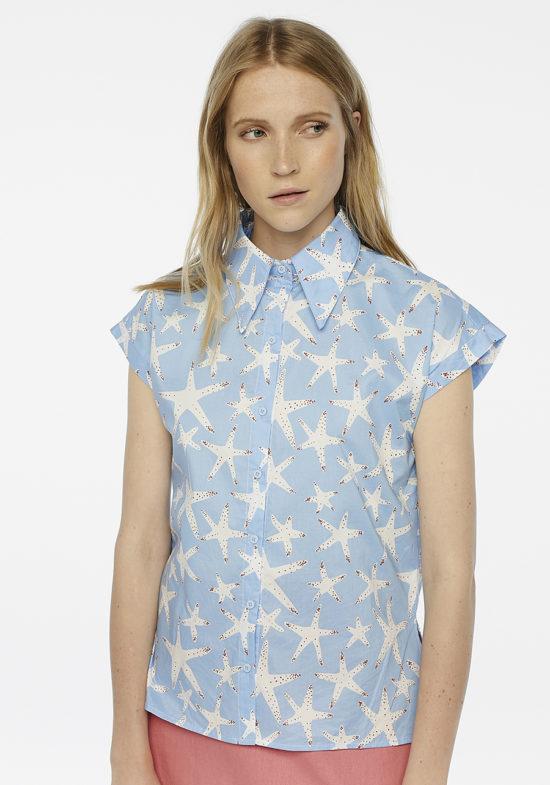 camisa-estrella-de-mar-azul