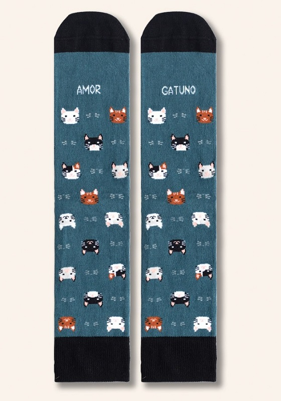 calcetines-divertidos-amor-gatuno